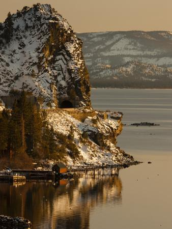 Cave Rock Tunnel Seen from Logan Shoals East Side Lake Tahoe Nevada, USA by Tom Norring