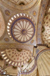 Ceiling Decoration in the Blue Mosque. Istanbul. Turkey by Tom Norring