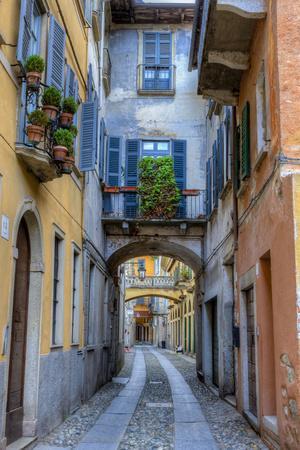 Cityscape. Orta San Giulio. Piedmont, Italy