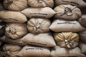 Coffee Bags. Monteverde. Costa Rica. Central America by Tom Norring