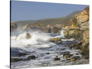 Foam Thrown in Air When Hitting Rocks, Garrapata State Park, Entrance No.7, California, USA by Tom Norring
