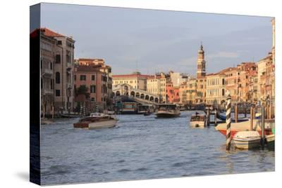 Grand Canal and Rialto Bridge. Venice. Italy