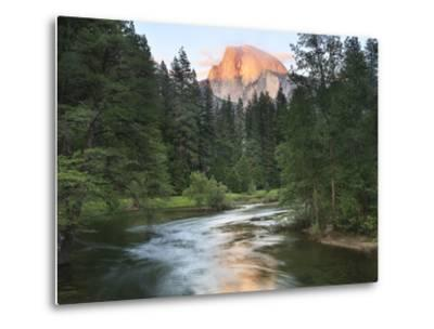 Half Dome with Sunset over Merced River, Yosemite, California, USA