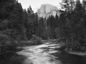 Half Dome with Sunset over Merced River, Yosemite, California, USA by Tom Norring
