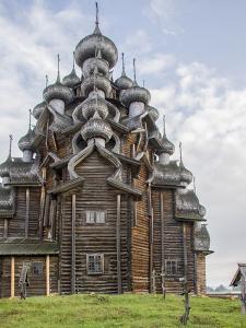 Kizhi Pogost Wooden Church. UNESCO World Heritage Site. Kizhi Island in Lake Onega. Karelia. Russia by Tom Norring