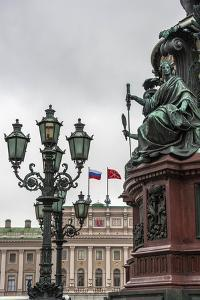 Light Pole. Russian State Building. Saint Petersburg, Russia by Tom Norring
