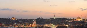 Panorama. Suleymaniye Mosque, the Blue Mosque and Hagia Sophia. the Golden Horn. Istanbul. Turkey by Tom Norring