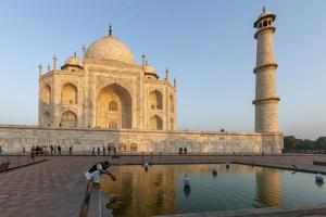 Reflection in Water. Taj Mahal at Sunset. Agra. India by Tom Norring