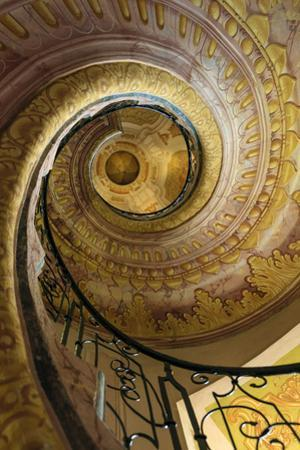 Staircase Between Church and Library. Melk Abbey. Melk. Austria by Tom Norring