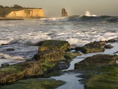 Surf on Four-Mile Beach, Santa Cruz Coast, California, USA