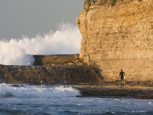 Surfer Sizing Up the Challenge, Santa Cruz Coast, California, USA by Tom Norring