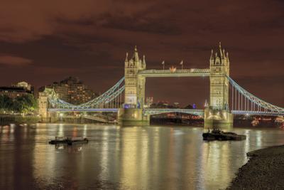 Tower Bridge at Night. London. England by Tom Norring