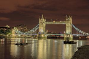 Tower Bridge at Night. London. England by Tom Norring