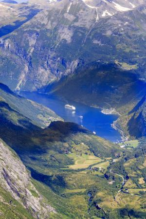 Unesco World Heritage Site. Twisting Mountain Road. Geiranger. Norway by Tom Norring