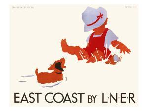 East Coast by LNER, LNER Poster, circa 1935 by Tom Purvis