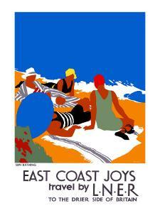 East Coast Joys No. 2, Sun-bathing by Tom Purvis
