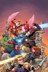 Avengers Vs No. 1 Cover, Featuring: Hawkeye, Black Widow, Captain America, Red Skull, Hulk and More by Tom Raney