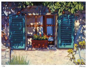 Una Finestral In Monteriggioni by Tom Swimm