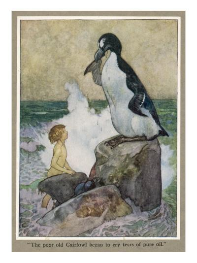 Tom Talks to the Gairfowl Who Weeps Tears of Pure Oil--Giclee Print