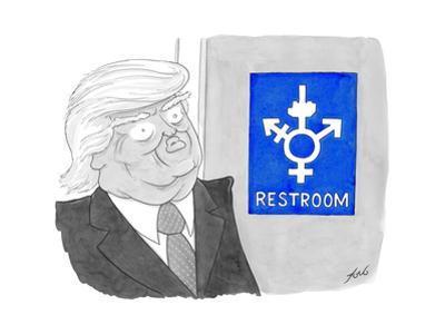 Restroom - Cartoon by Tom Toro