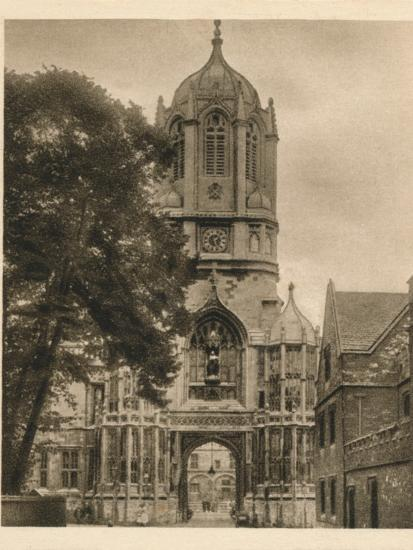 'Tom Tower, Christchurch College', 1923-Unknown-Photographic Print