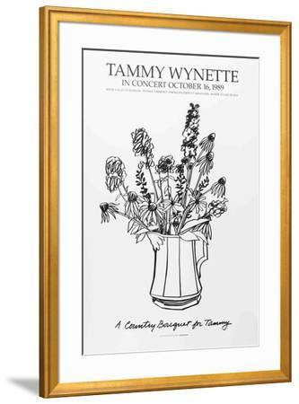 Country Bouquet with Delphinium (for Tammy Wynette)