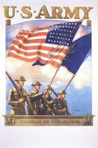 U.S. Army - Guardians of the Colors Poster by Tom Woodburn