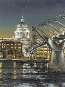 St Paul's and the Millennium Bridge, 2004 by Tom Young