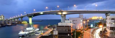 Tomari Bridge in Naha, Okinawa, Japan.-SeanPavonePhoto-Photographic Print