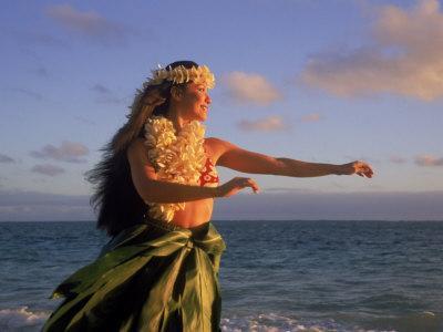 Hawaiian Hula at Sunrise, HI
