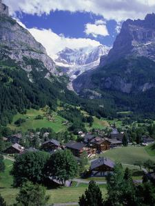 Lodges in Valley, Grindewald Alps, Switzerland by Tomas del Amo