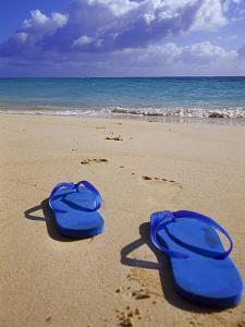 Sandals on Shore, HI by Tomas del Amo