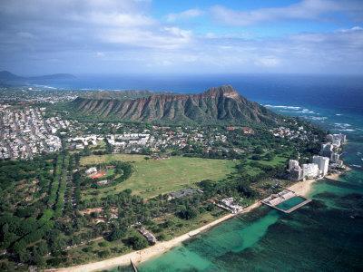 Waikiki Beach, Diamond Head, Hawaii