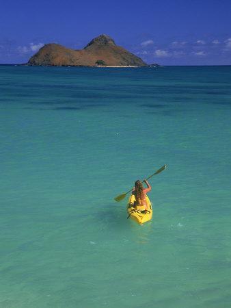 Woman Kayaking, HI