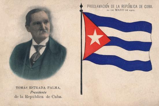 'Tomas Estrada Palma, Presidente de la Republica de Cuba', 1902-Unknown-Photographic Print