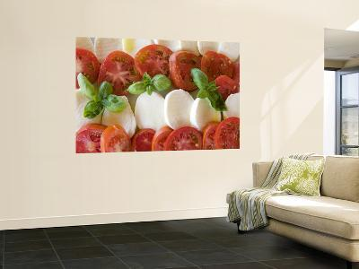 Tomatoes, Basil and Mozzarella Cheese-Olivier Cirendini-Giant Art Print