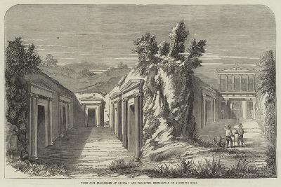 Tomb Just Discovered at Canosa; and Projected Restoration of Adjoining Tomb--Giclee Print