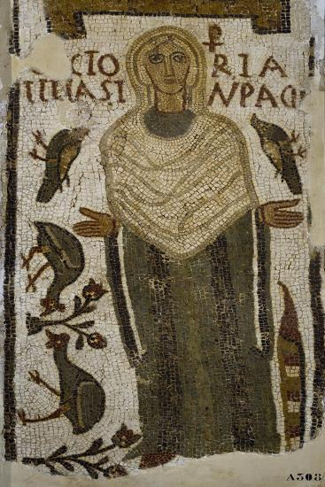 Tomb Mosaic from Tomb of Victoria, from Tabarka, Tunisia, Early Christian Period, 5th Century--Giclee Print