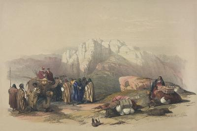 Tomb of Aaron, from 'The Holy Land', Engraved by Louis Haghe (1806-85)-David Roberts-Giclee Print