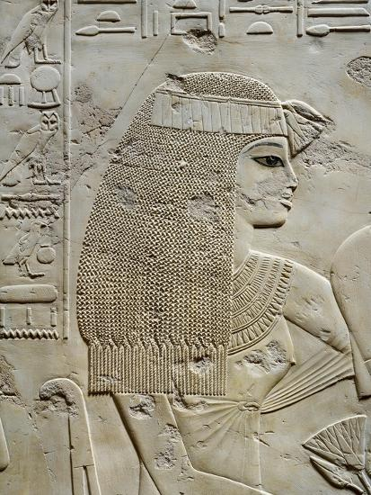 Tomb of City Governor and Vizier Ramose, Relief of Ramoses Wife in Hypostyle Hall from 18th Dynasty--Giclee Print