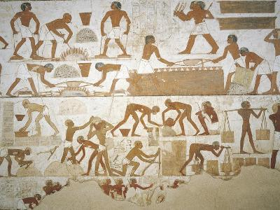 Tomb of City Governor and Vizier Rekhmire, Burial Chamber, Mural Paintings, Craftsmen--Giclee Print