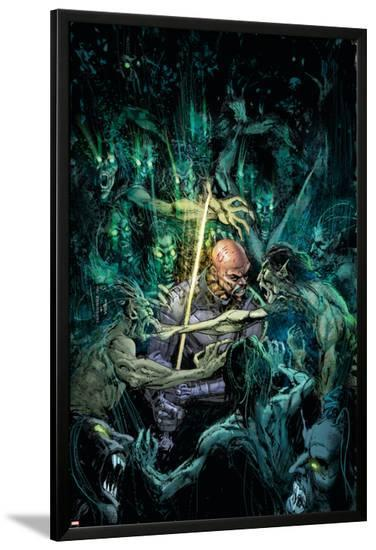 Tomb of Dracula No.3 Cover: Blade-Bill Sienkiewicz-Lamina Framed Poster