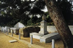 Tomb of Giuseppe Garibaldi in Centre of Family Cemetery