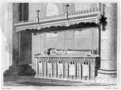Tomb of Henry IV and His Queen Joan of Navarre in Canterbury Cathedral, 1825-John Le Keux-Giclee Print