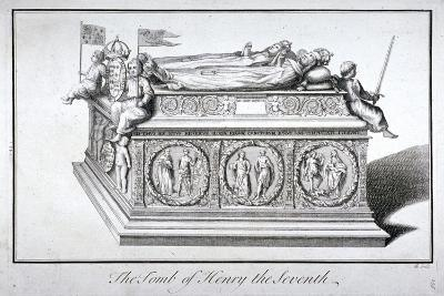 Tomb of Henry VII and Queen Elizabeth in the King's Chapel, Westminster Abbey, London, C1750-Benjamin Cole-Giclee Print