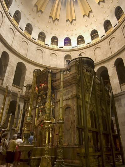 Tomb of Jesus Christ, Church of the Holy Sepulchre, Old Walled City, Jerusalem, Israel-Christian Kober-Photographic Print