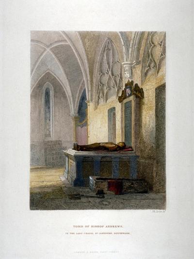 Tomb of Lancelot Andrews in the Lady Chapel, St Saviour's Church, Southwark, London, 1851-John Wykeham Archer-Giclee Print