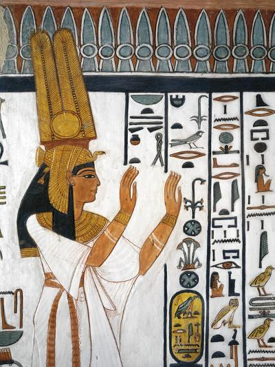 Tomb of Nefertari, Mural Painting of Queen Reciting Mortuary Formula in Burial Chamber--Giclee Print