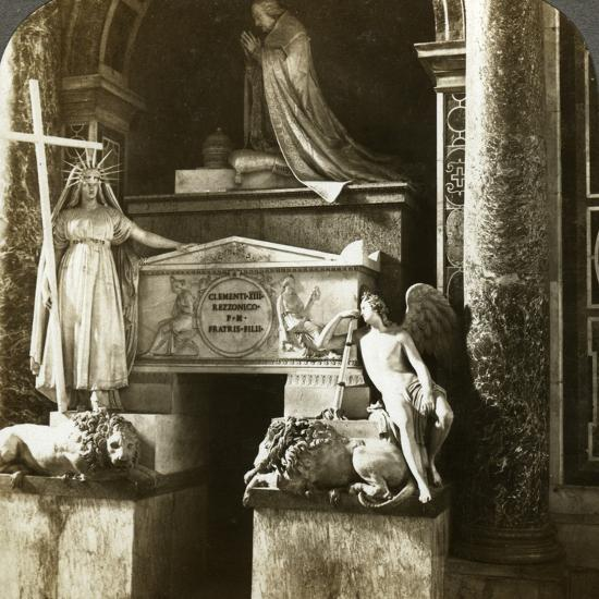 Tomb of Pope Clement XIII, St Peter's Basilica, Rome, Italy-Underwood & Underwood-Photographic Print