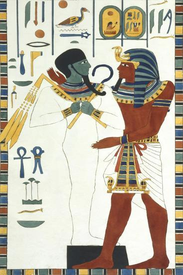 Tomb of Psammuthis: Osiris and Psammuthis-Giovanni Battista Belzoni-Giclee Print